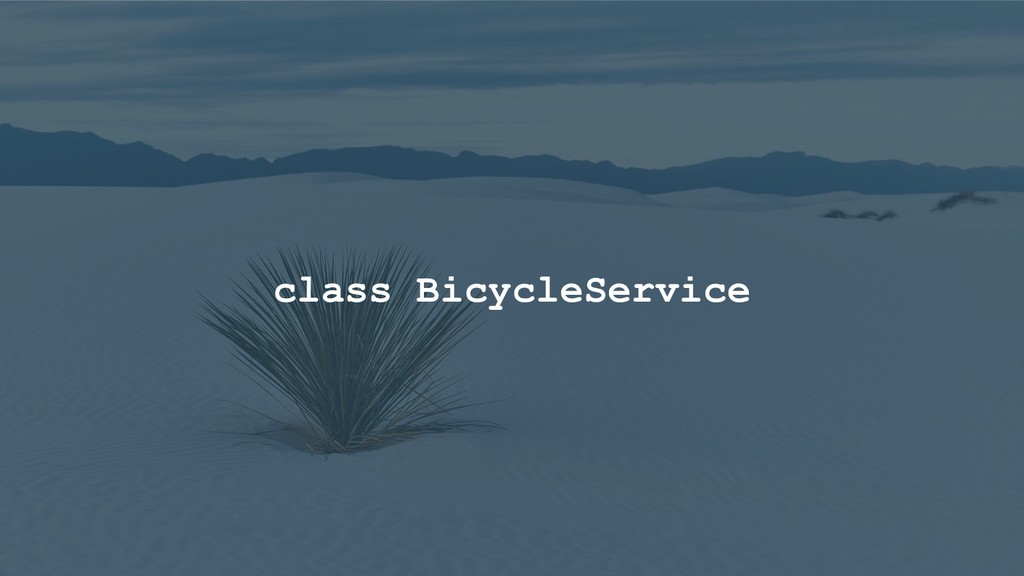class BicycleService