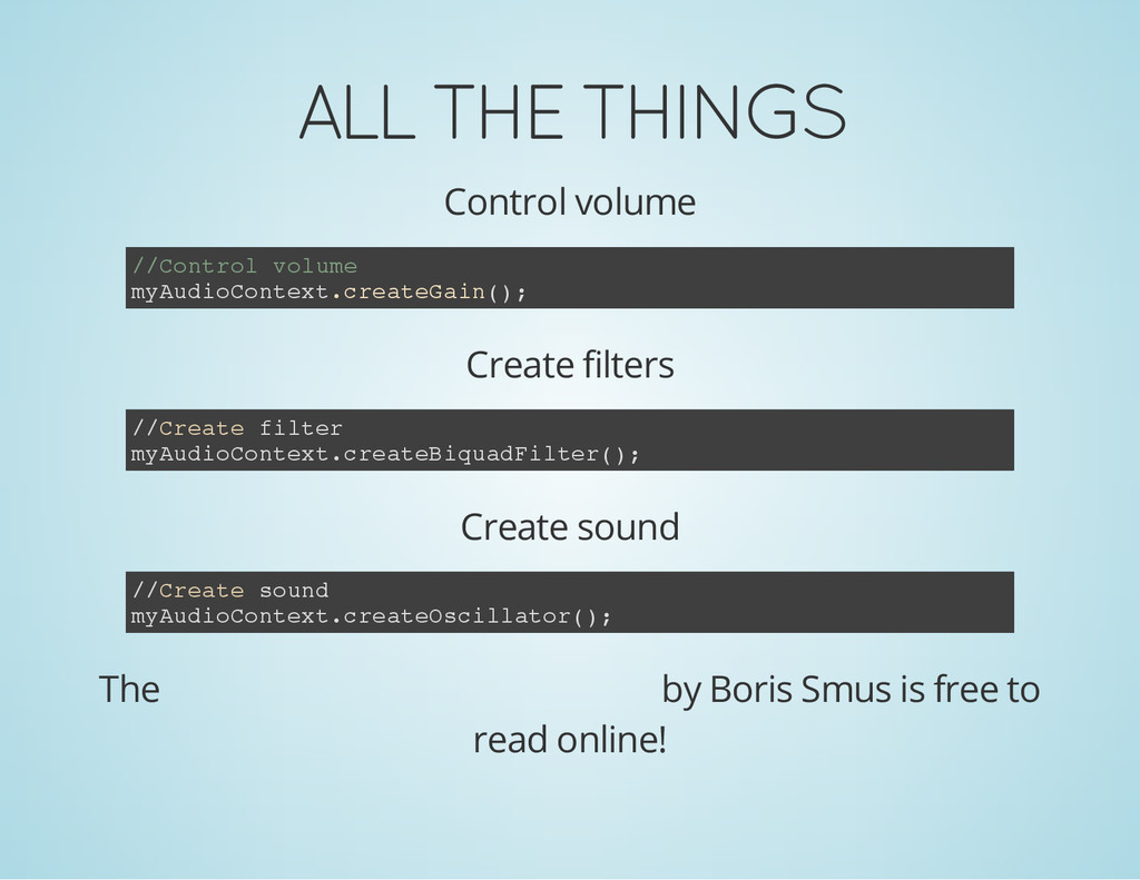 ALL THE THINGS Control volume / / C o n t r o l...