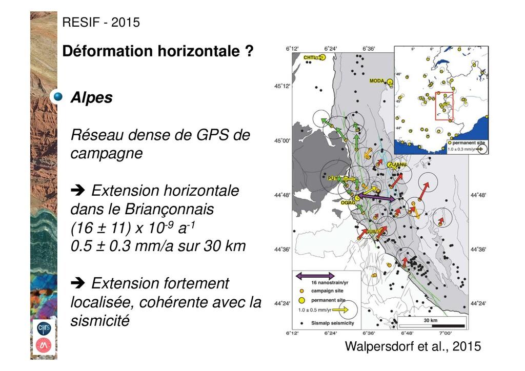 Alpes Réseau dense de GPS de campagne ! Extens...
