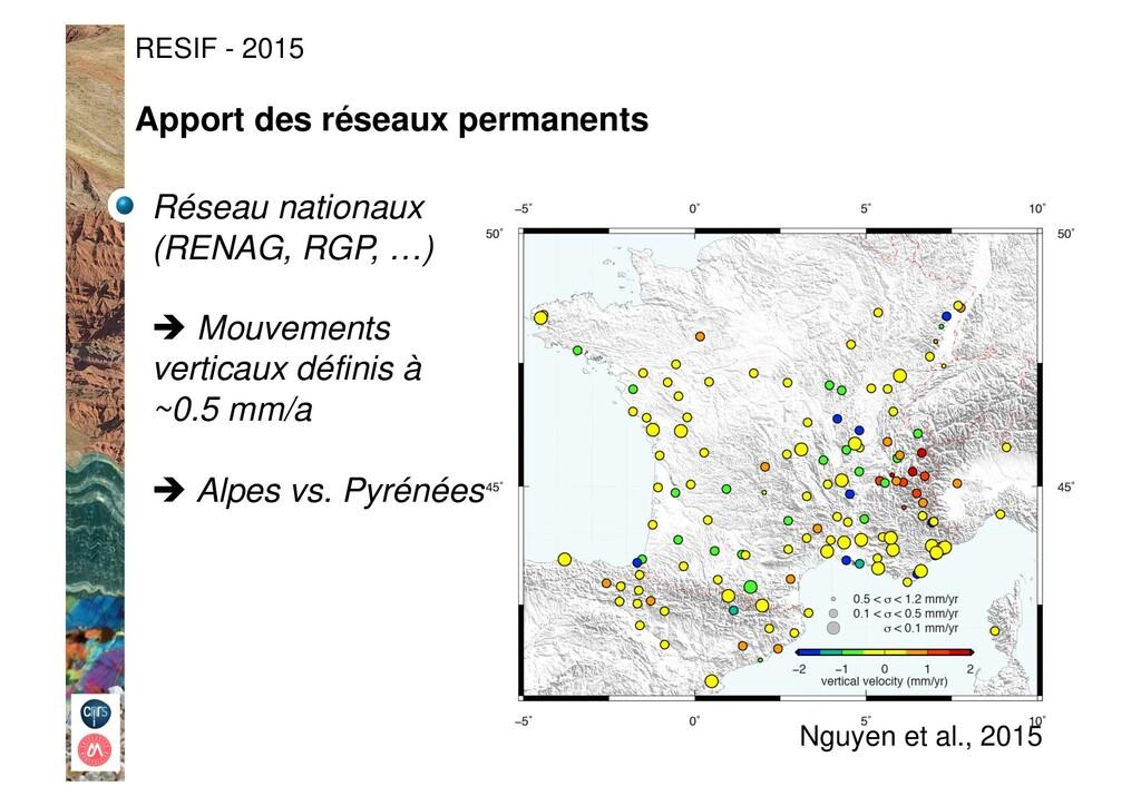 RESIF - 2015 Nguyen et al., 2015 Réseau nationa...