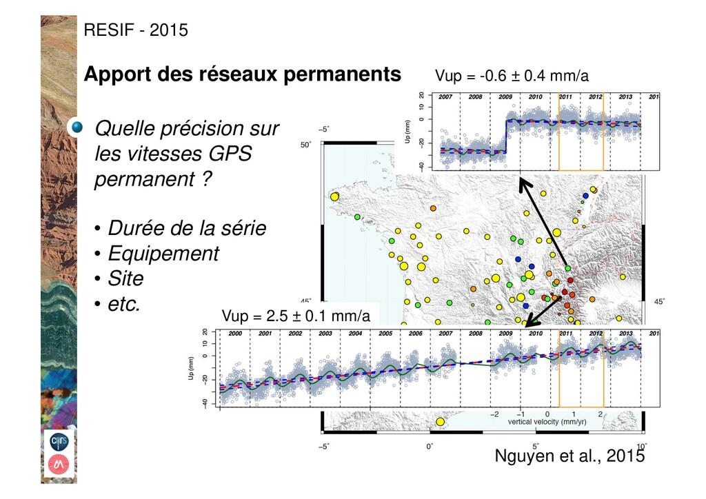 RESIF - 2015 Nguyen et al., 2015 Quelle précisi...