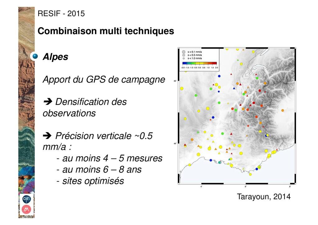 Alpes Apport du GPS de campagne ! Densification...