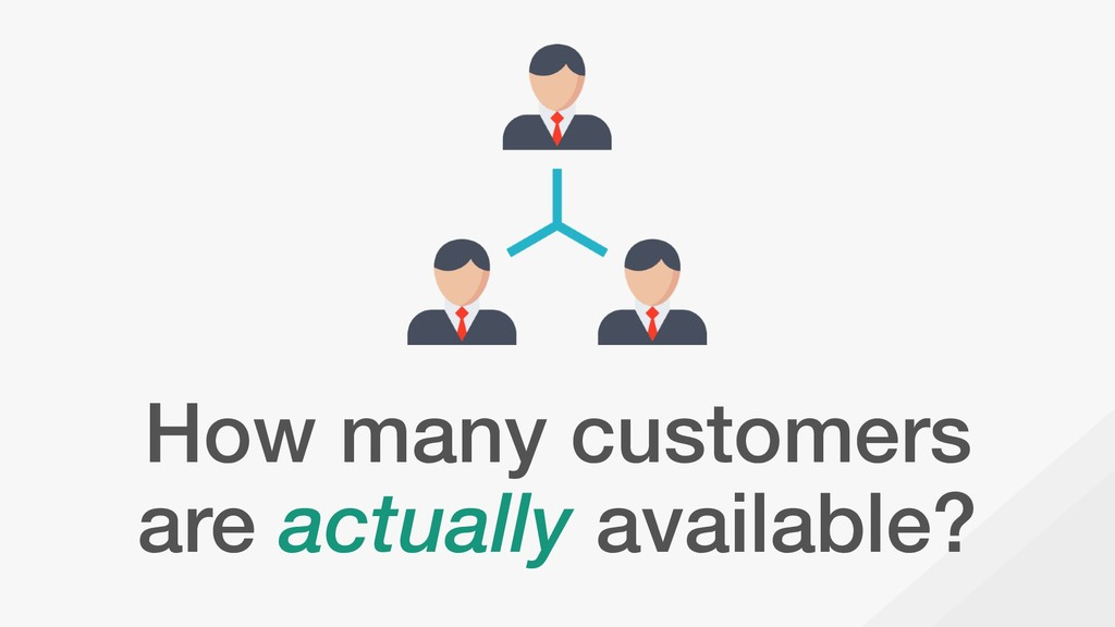 How many customers are actually available?