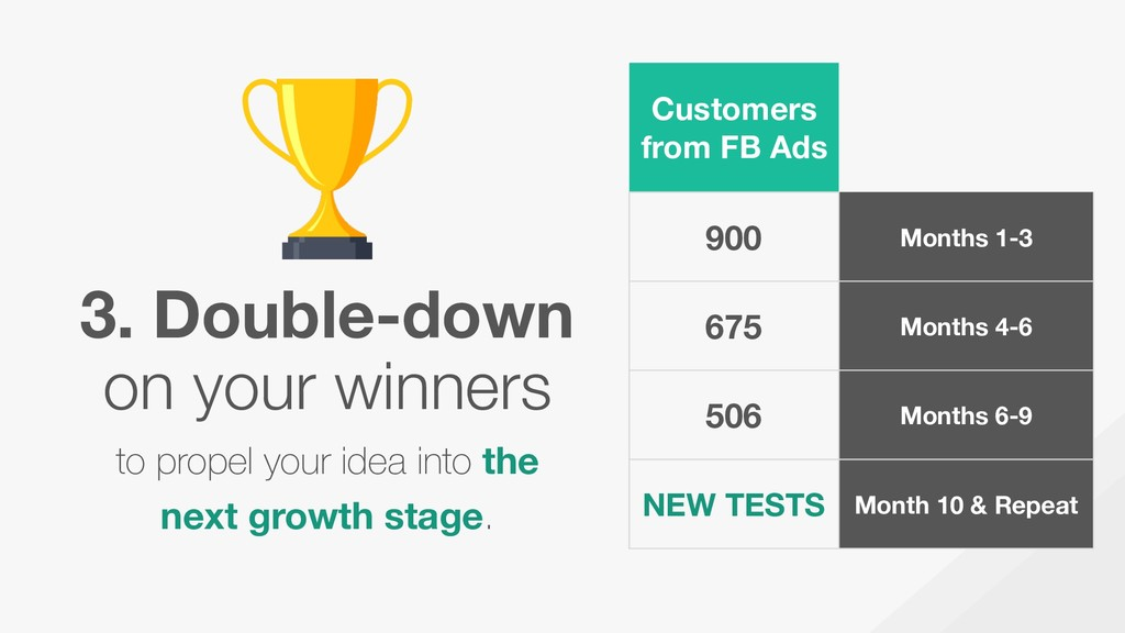 3. Double-down on your winners to propel your i...