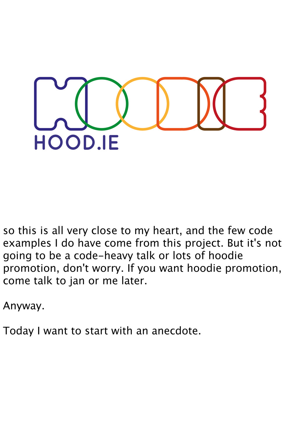 HOOD.IE so this is all very close to my heart, ...
