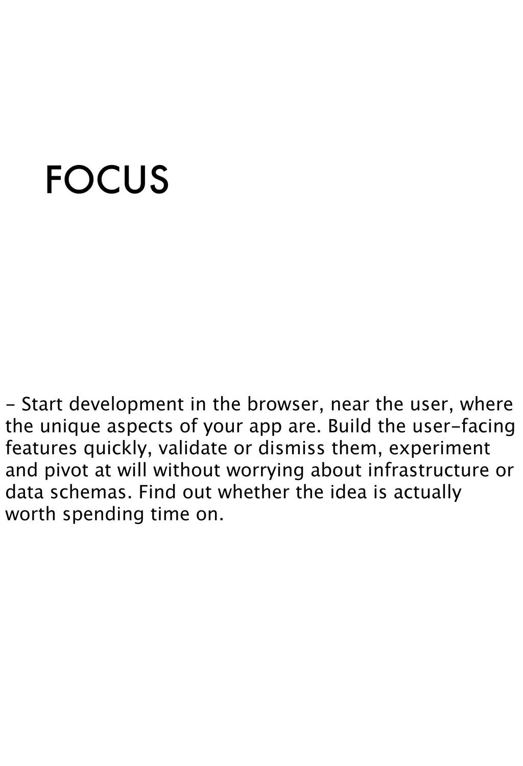 FOCUS - Start development in the browser, near ...