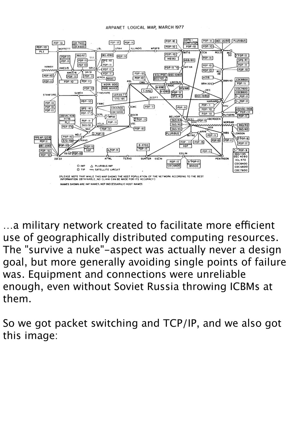 …a military network created to facilitate more ...