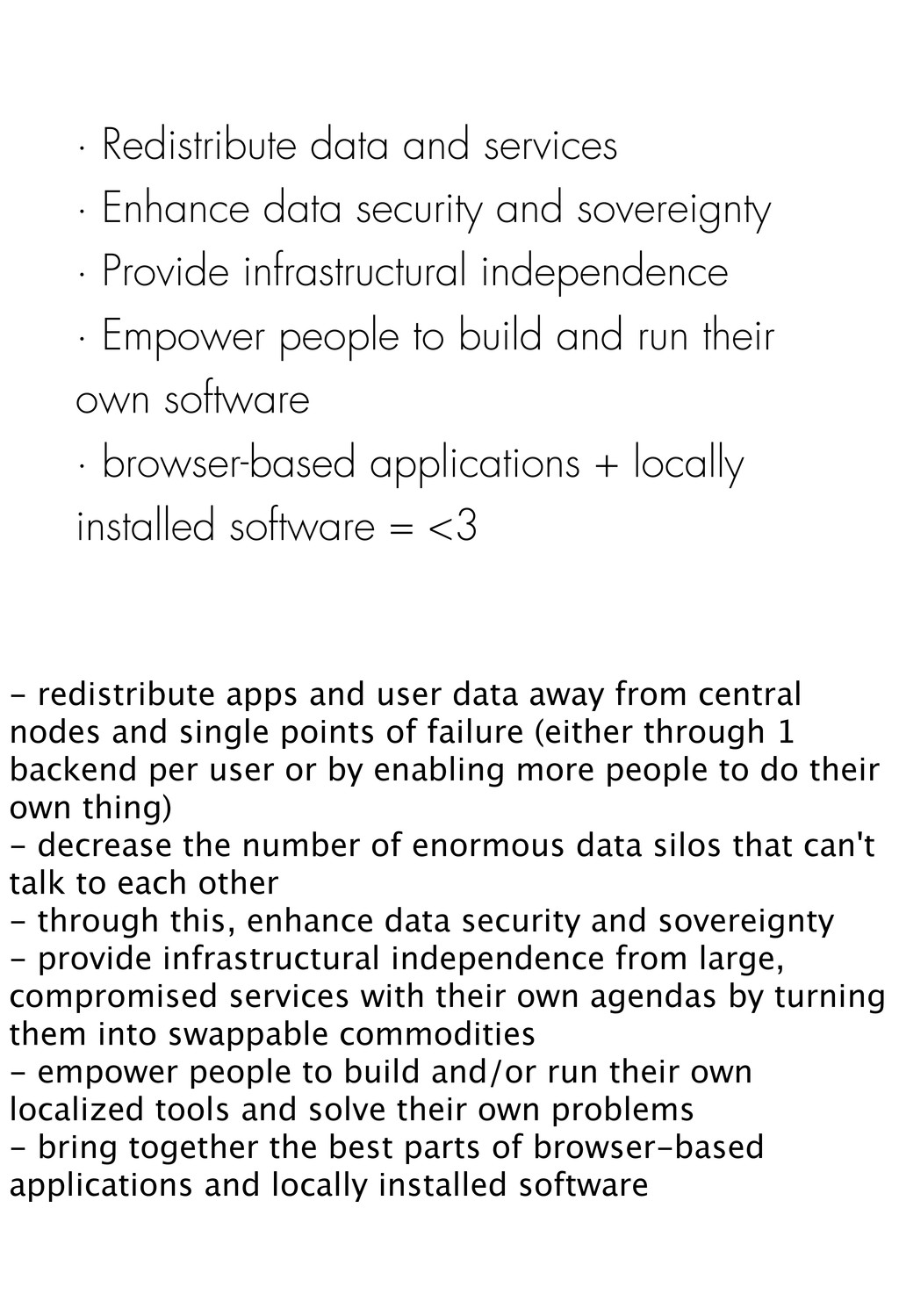 · Redistribute data and services · Enhance data...