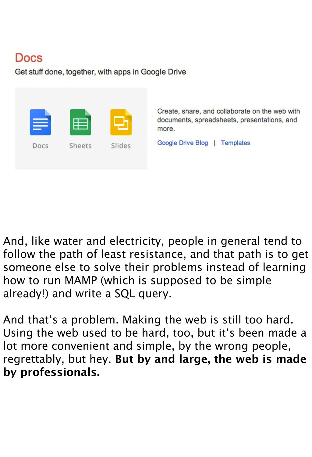 And, like water and electricity, people in gene...