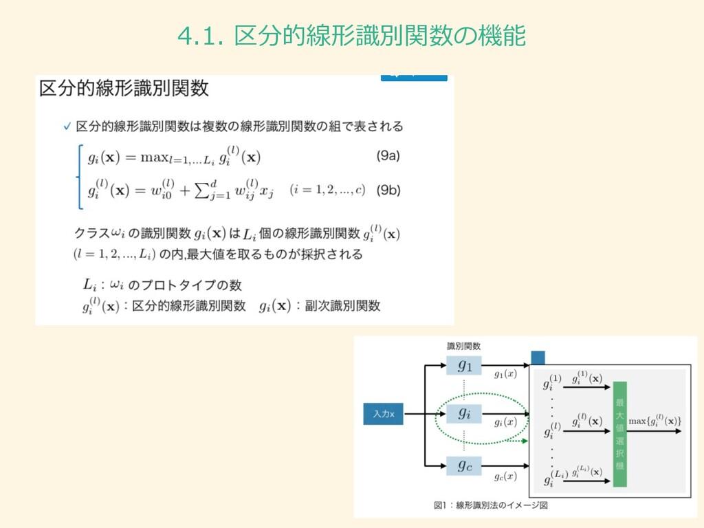 4.1. 区分的線形識別関数の機能