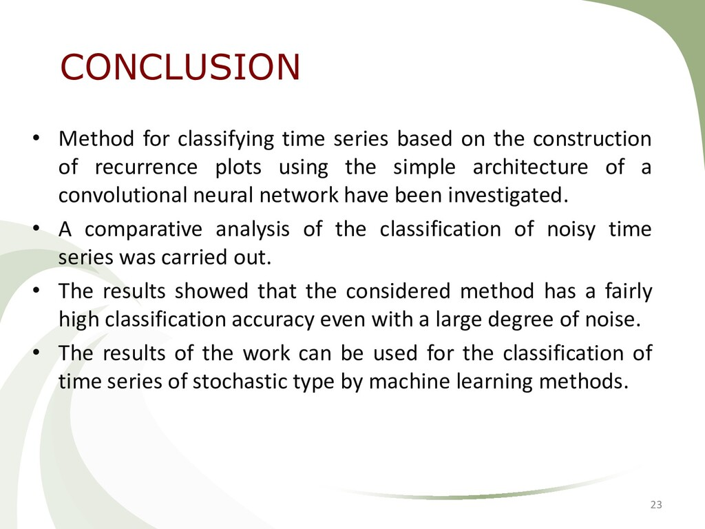 • Method for classifying time series based on t...