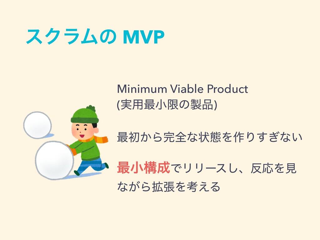 εΫϥϜͷ MVP Minimum Viable Product (࣮༻࠷খݶͷ) ࠷ॳ͔...