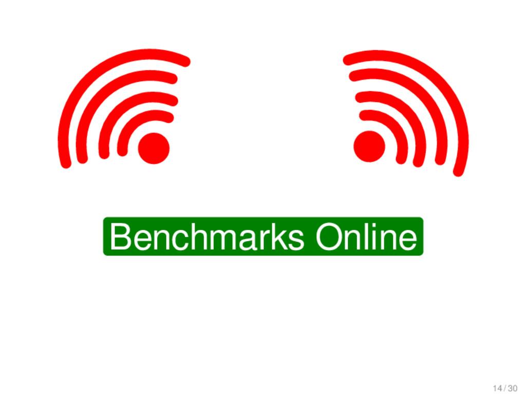 Benchmarks Online 14 / 30