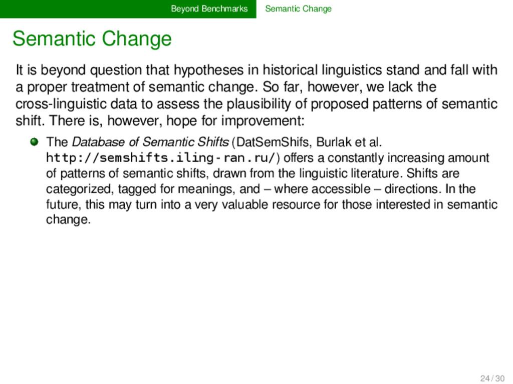 Beyond Benchmarks Semantic Change Semantic Chan...