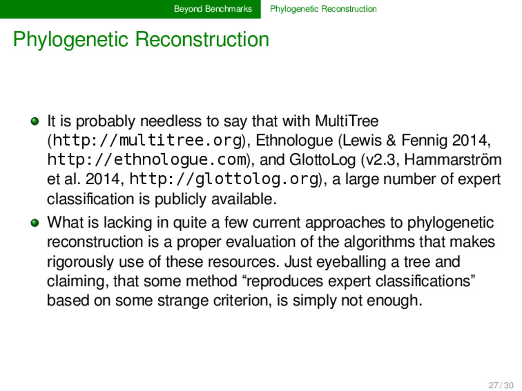 Beyond Benchmarks Phylogenetic Reconstruction P...