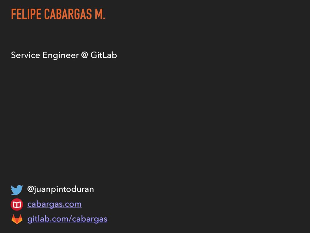 FELIPE CABARGAS M. Service Engineer @ GitLab @j...