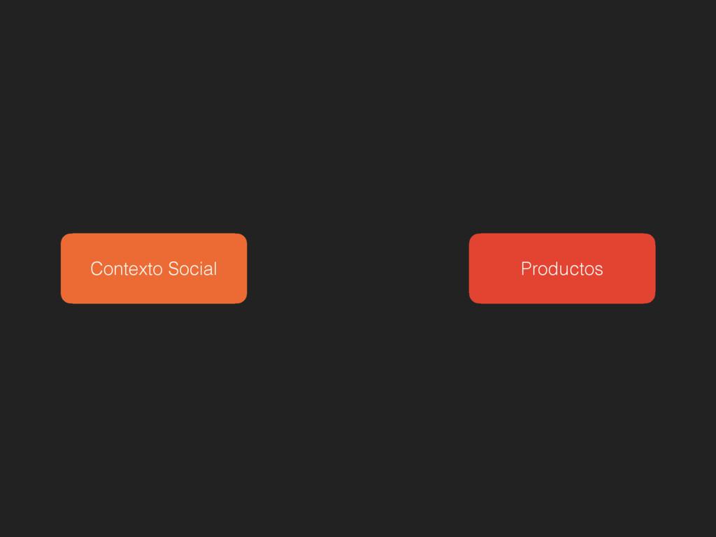 Productos Contexto Social