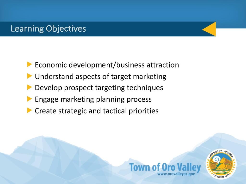 Learning Objectives Economic development/busine...