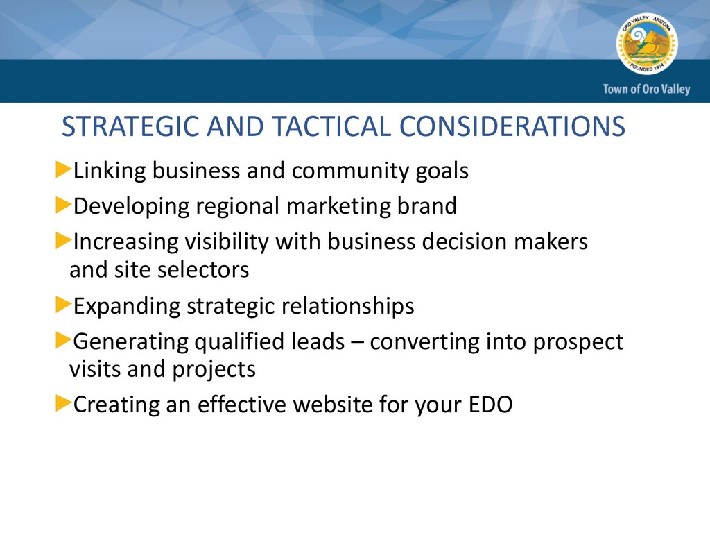 STRATEGIC AND TACTICAL CONSIDERATIONS Linking b...