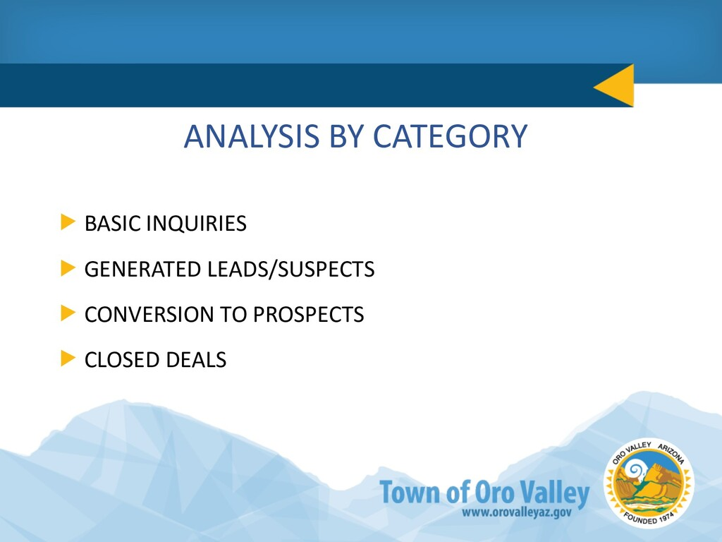 ANALYSIS BY CATEGORY BASIC INQUIRIES GENERATED ...