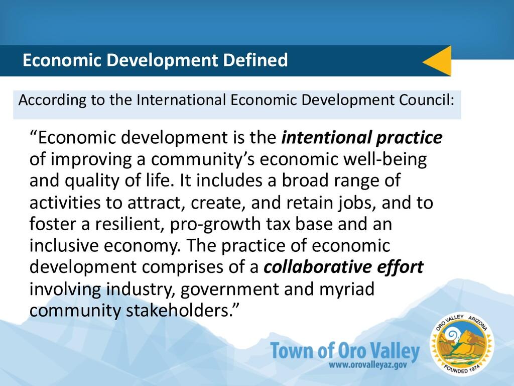 According to the International Economic Develop...