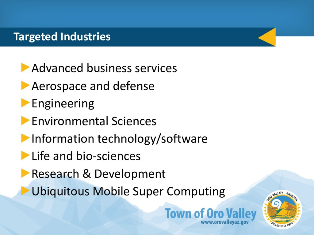 Targeted Industries Advanced business services ...