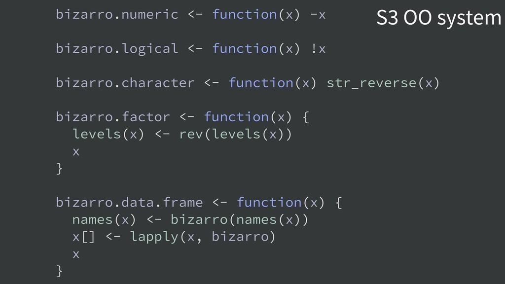 bizarro.numeric <- function(x) -x bizarro.logic...