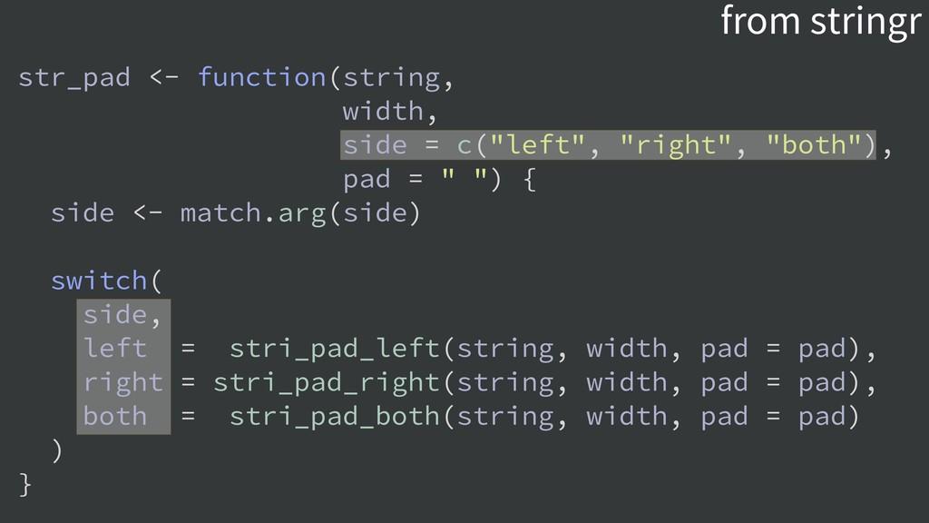 from stringr str_pad <- function(string, width,...