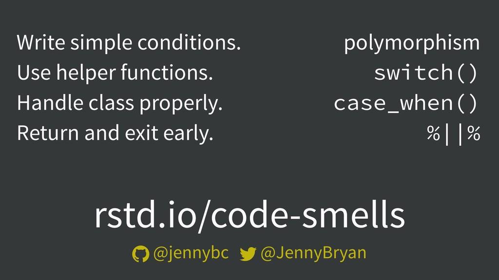 rstd.io/code-smells  @jennybc  @JennyBryan Wr...