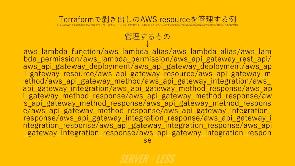 Terraformで剥き出しのAWS resourceを管理する例 API GatewayとL...