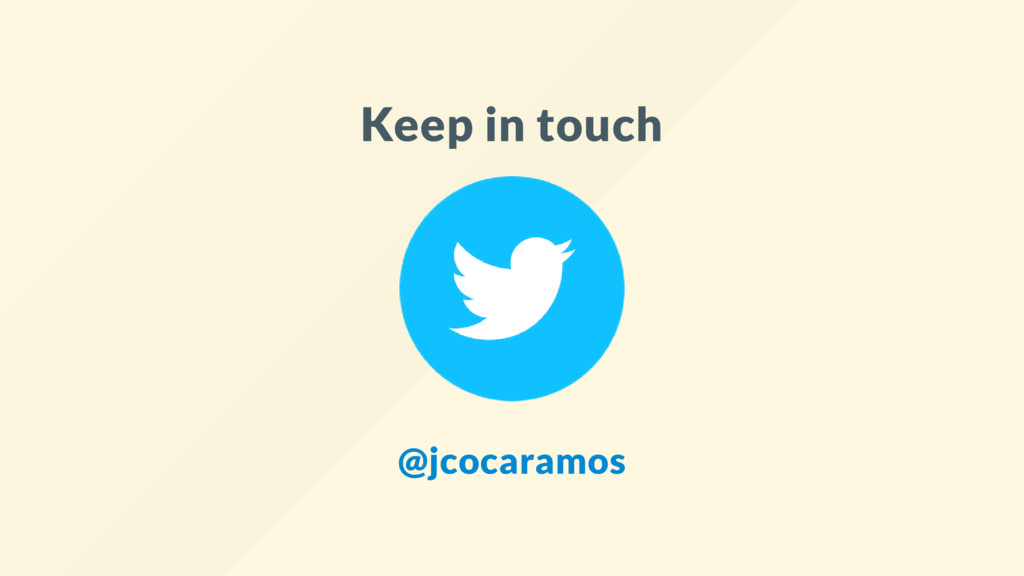Keep in touch @jcocaramos