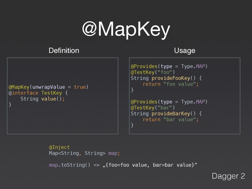 @MapKey @MapKey(unwrapValue = true) @interface...