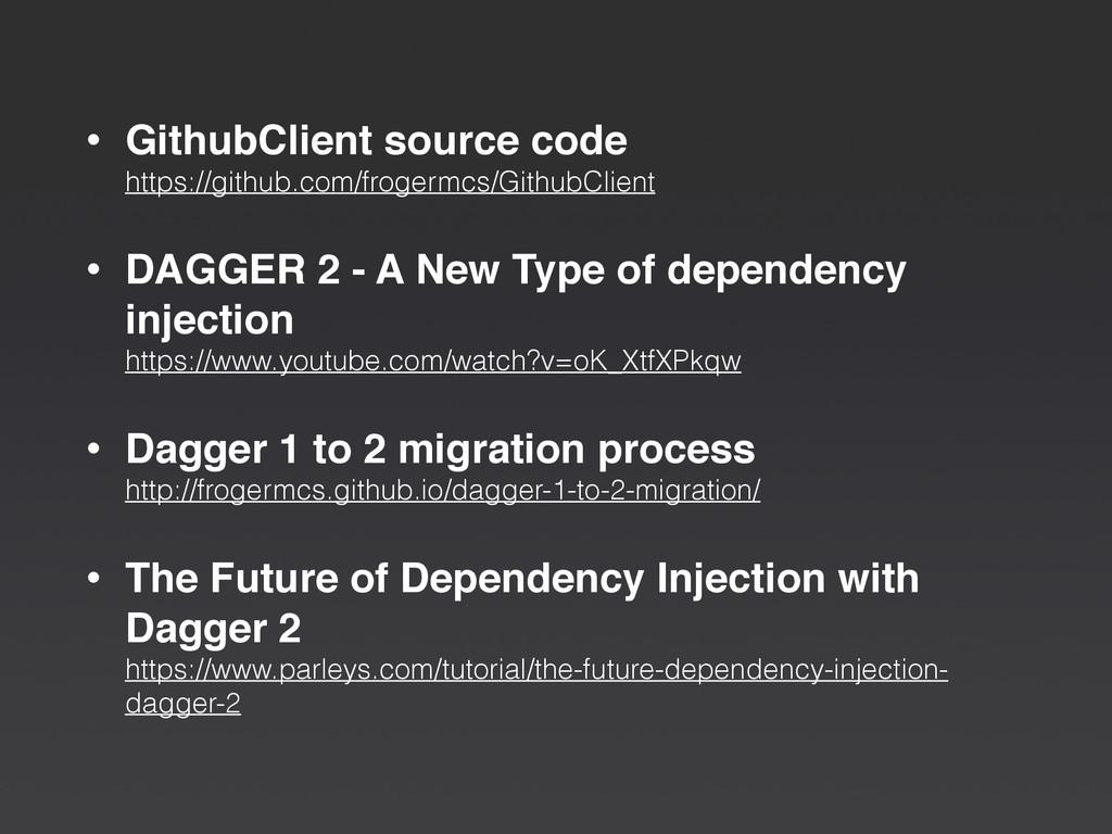 • GithubClient source code https://github.com/...