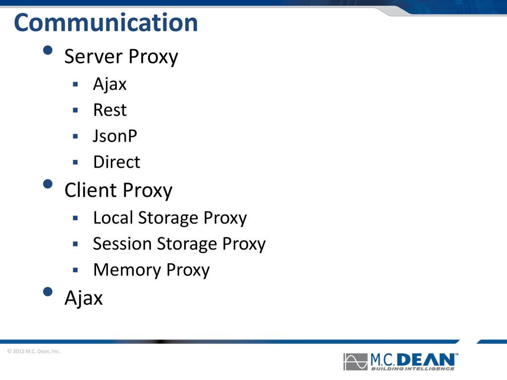© 2012 M.C. Dean, Inc. Communication • Server P...