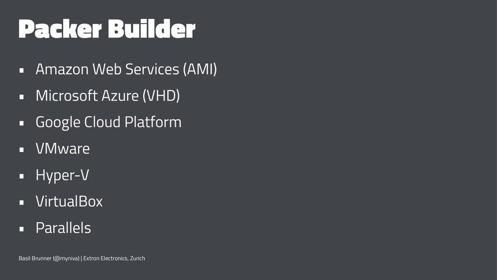 Packer Builder • Amazon Web Services (AMI) • Mi...