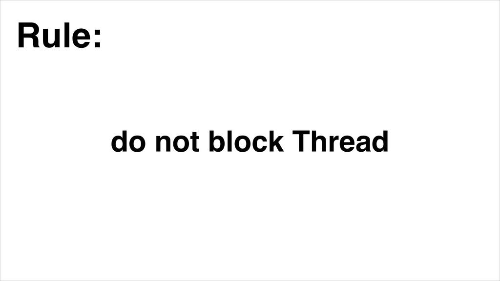 do not block Thread Rule: