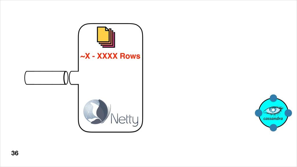36 ~X - XXXX Rows