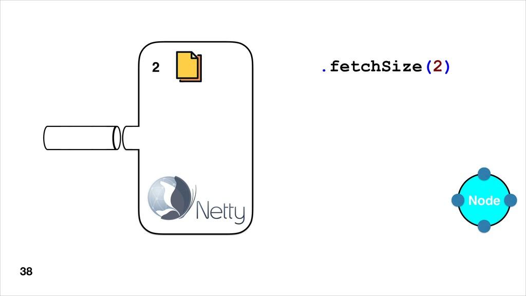 38 Node .fetchSize(2) 8 7 6 5 4 3 2
