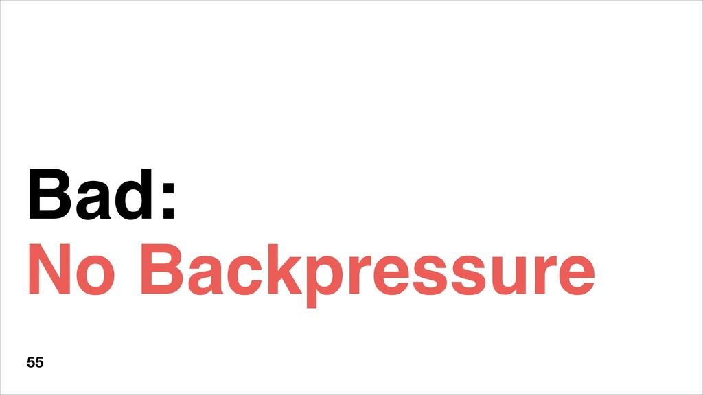 Bad: No Backpressure 55