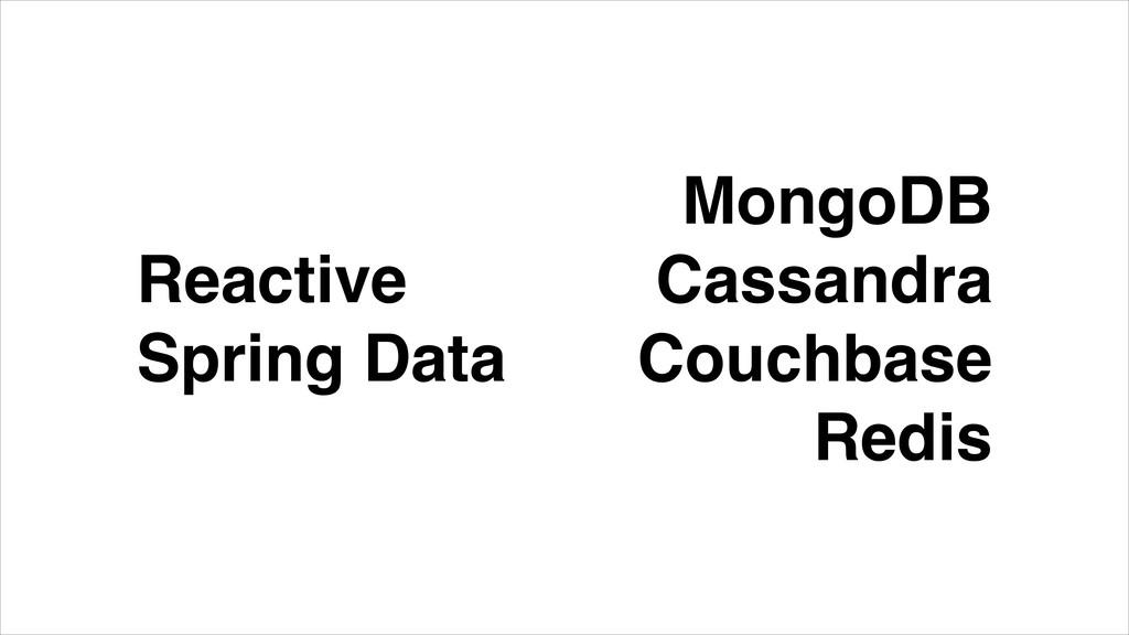 Reactive Spring Data MongoDB Cassandra Couchbas...