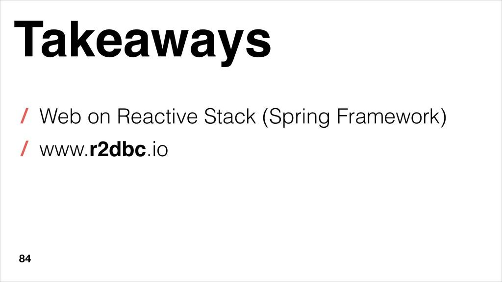84 Takeaways / Web on Reactive Stack (Spring Fr...