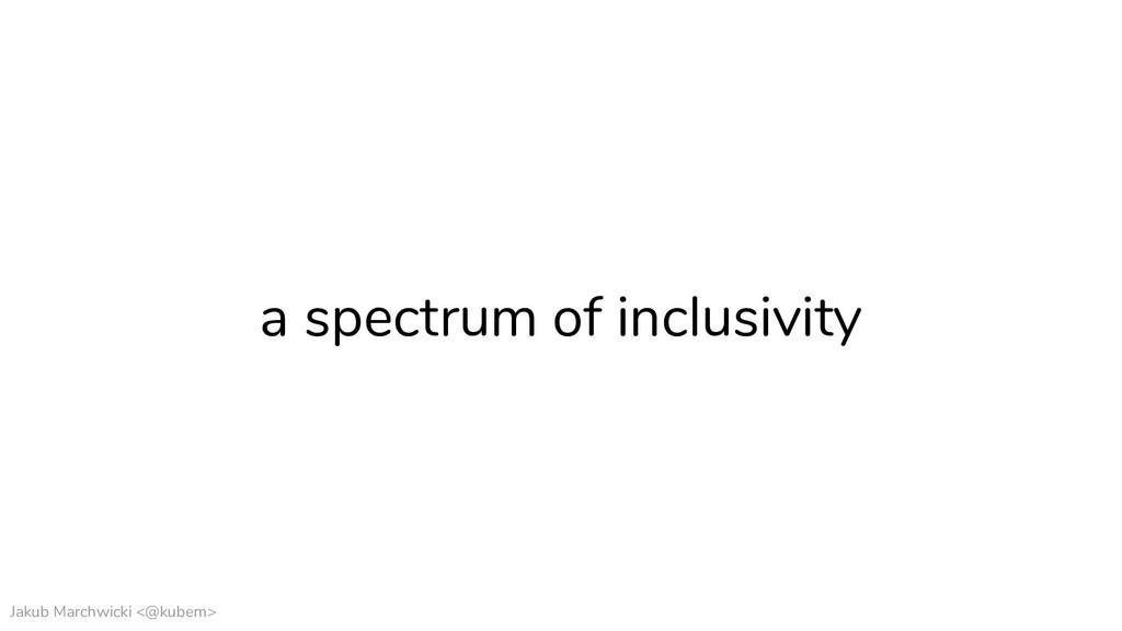 Jakub Marchwicki <@kubem> a spectrum of inclusi...