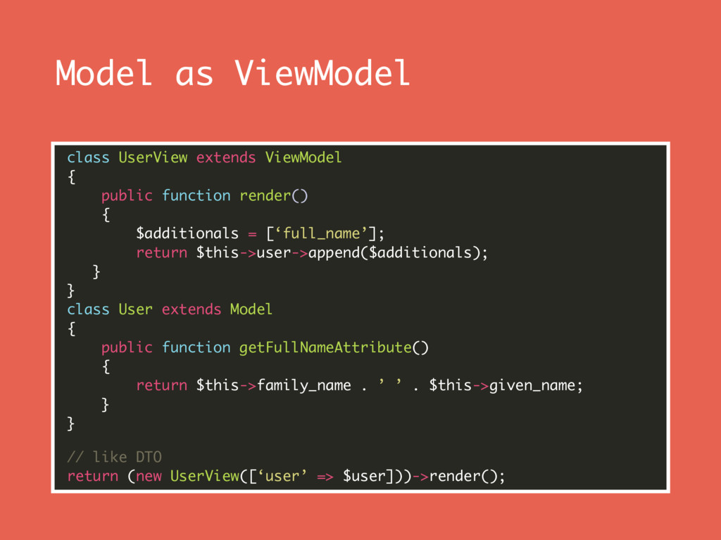 Model as ViewModel class UserView extends ViewM...