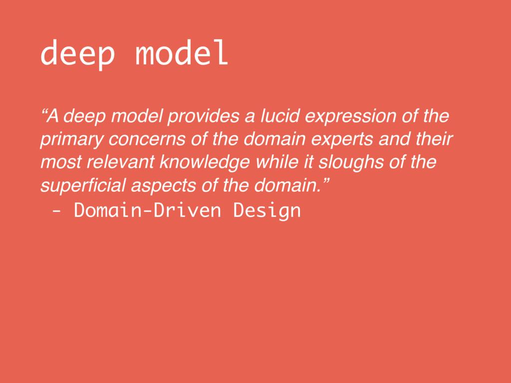 "deep model ""A deep model provides a lucid expre..."