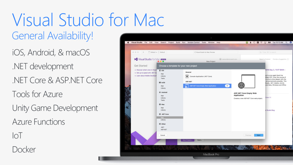 Visual Studio for Mac General Availability! iOS...