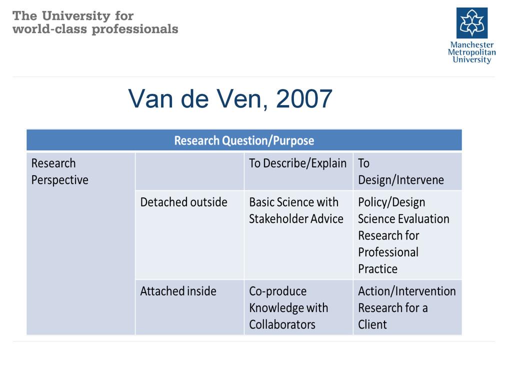 Van de Ven, 2007
