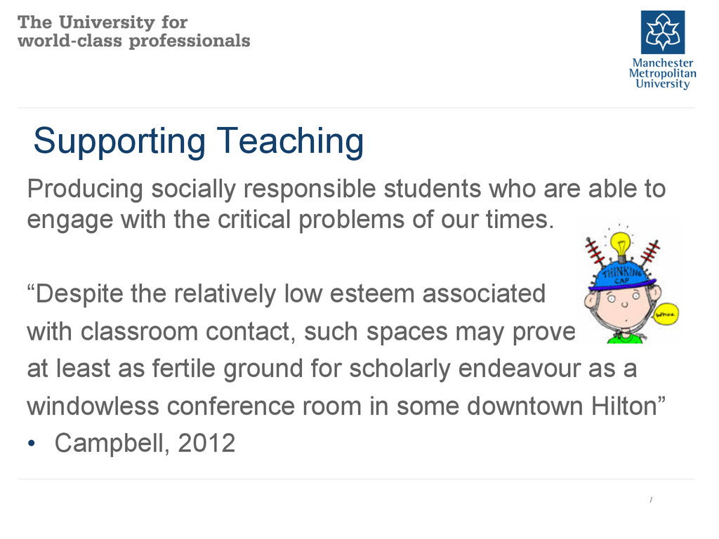 Supporting Teaching Producing socially responsi...