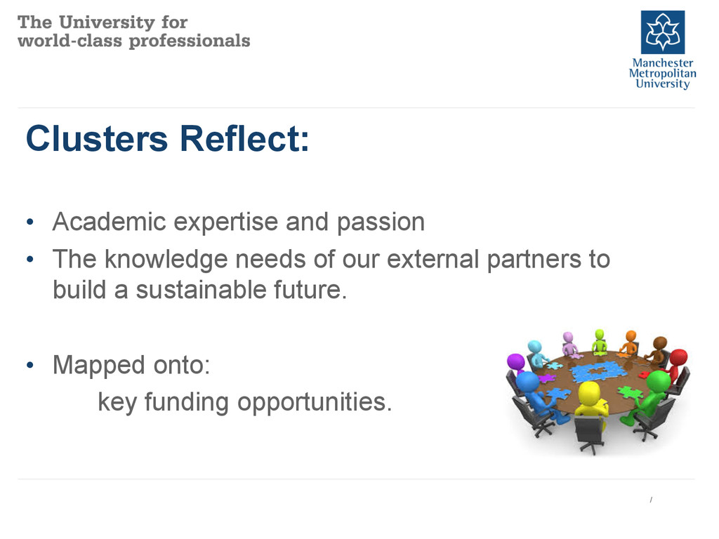 Clusters Reflect: • Academic expertise and pas...