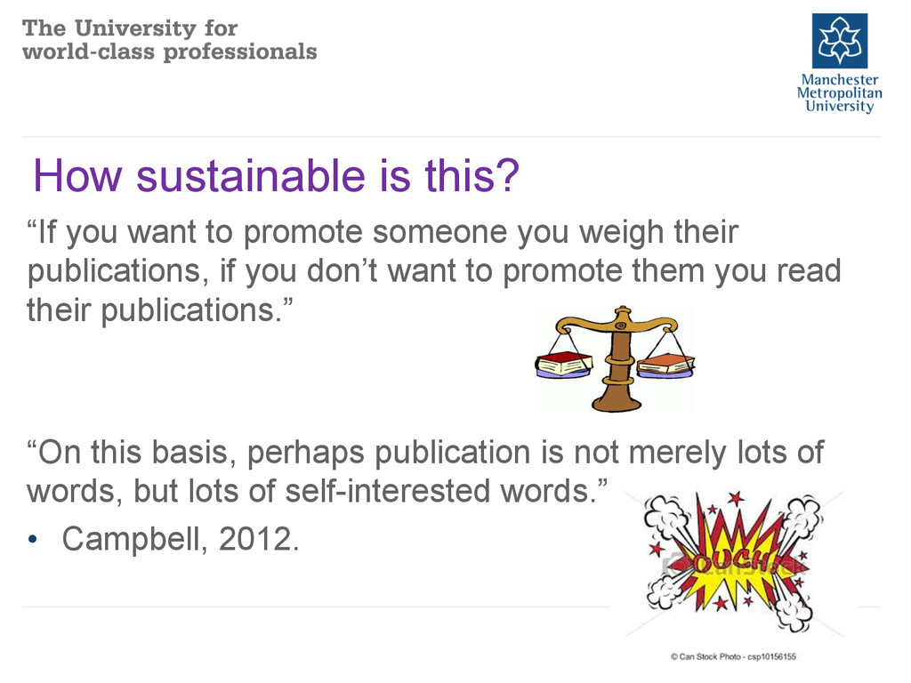 """How sustainable is this? """"If you want to promot..."""