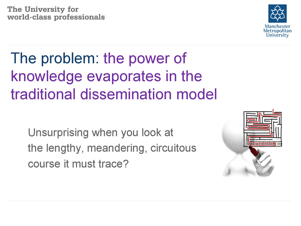 The problem: the power of knowledge evaporates ...